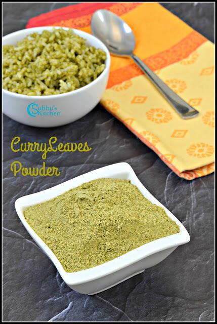 Curry Leaves powder recipe (Karuveppilai podi)