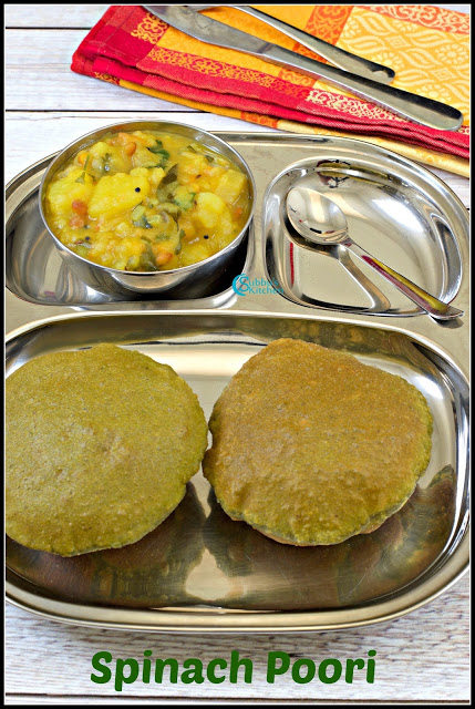 Palak Poori Recipe | Spinach Poori Recipe