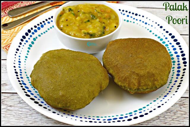 Palak Poori Recipe | Spinach Poori Recipe