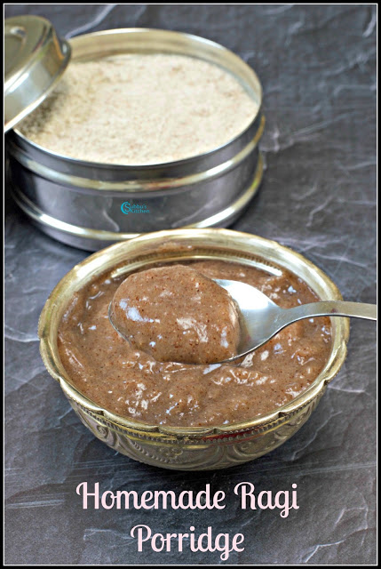 Homemade Sprouted Ragi Powder Recipe | Ragi Porridge for Babies