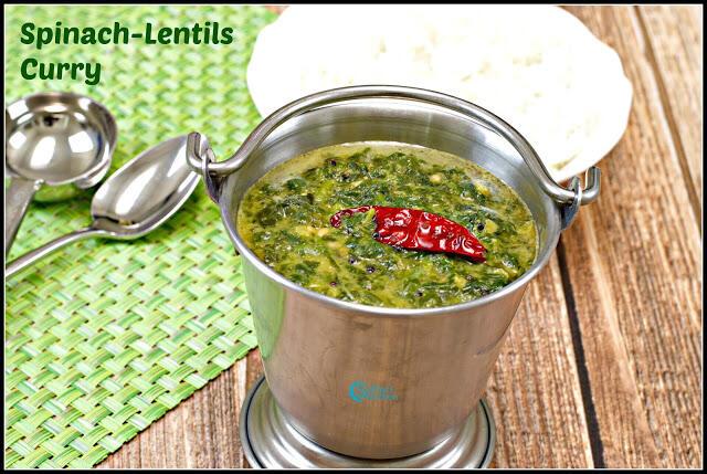 Keerai Molagootal Recipe | Spinach Lentil Curry Recipe