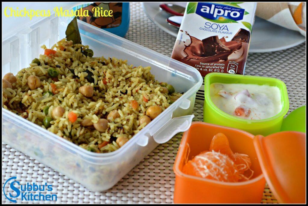 Chickpeas Masala Rice