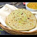 Green Peas Paratha Recipe | GreenPeas Stuffed Indian Flat Bread