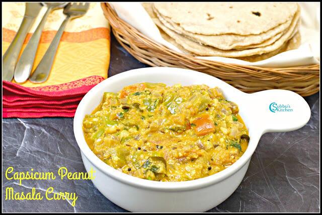 Capsicum Peanut Masala Curry