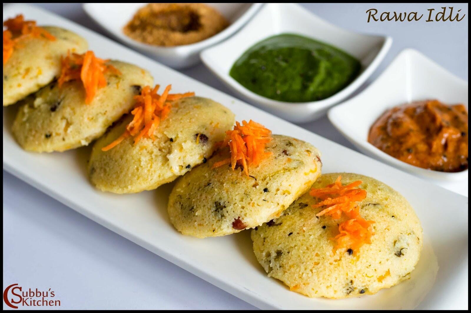 Rava Idli (Rawa Idly)| Instant Rava Idli Recipe