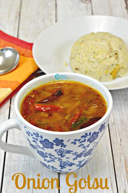 Onion Gotsu Recipe | Venkaya Kothsu Recipe