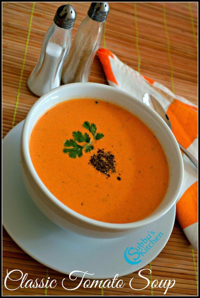 Tomato Soup Recipe   Classic Tomato Soup Recipe