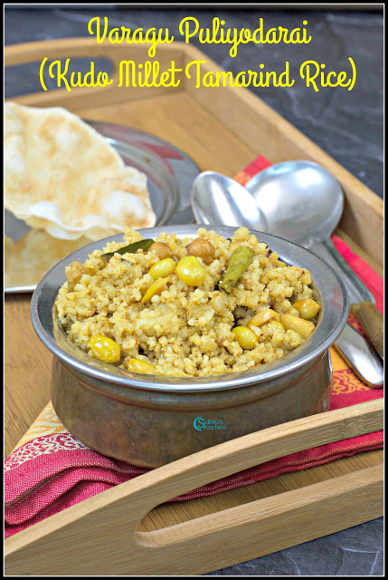 Varagu Arisi Puliyodarai Recipe | Kudo Millet Tamarind Rice