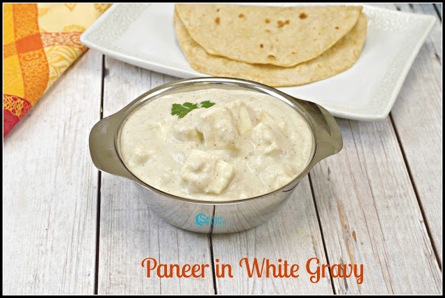 Paneer in White Gravy Recipe