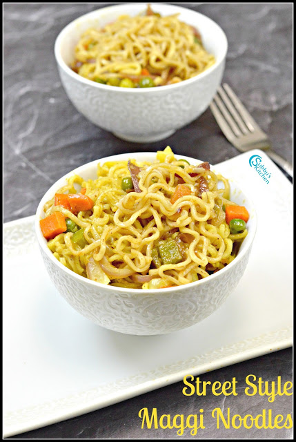 Street Style Maggi Noodles | Spicy Vegetable Maggi Recipe