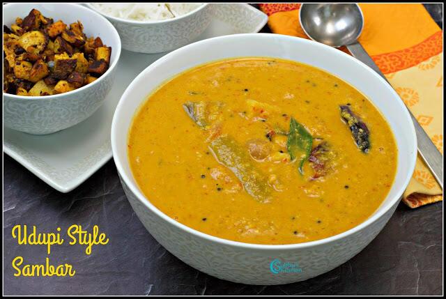 Udupi Sambar | Udipu Style Sambar Recipe