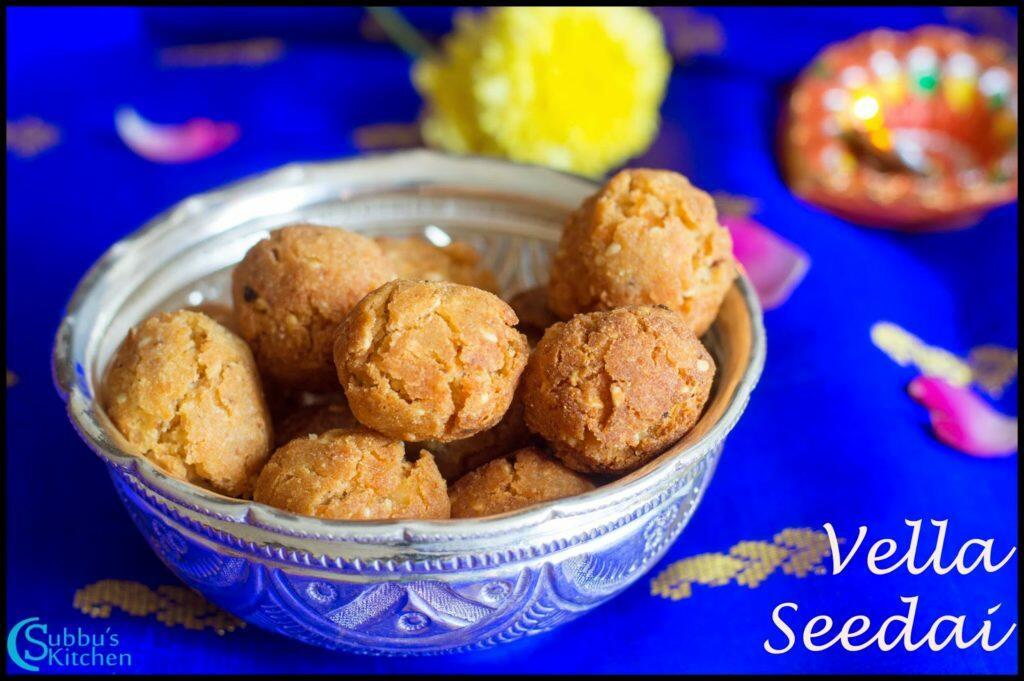 Vella Seedai Recipe   Sweet Seedai Recipe