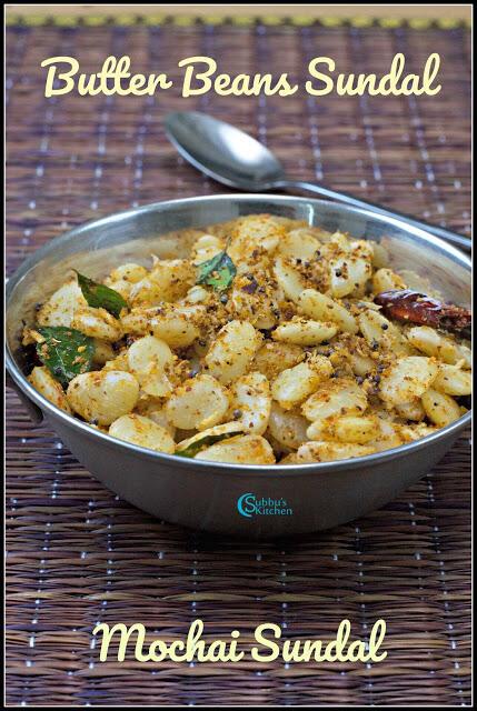 Mochai Payiru sundal (Butter Beans Sundal)