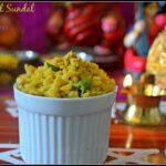 Moong dal Sundal (Payitham Paruppu Sundal)