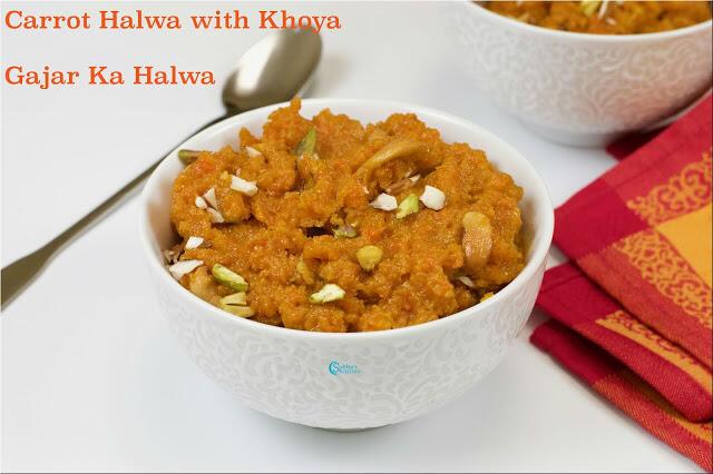 Carrot Halwa with Mawa   Gajar Ka Halwa