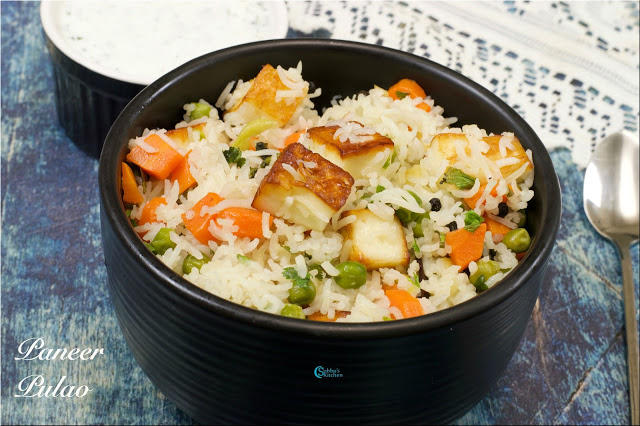 Paneer Pulao | No Onion No Garlic Paneer Pulav