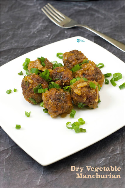 Vegetable Manchurian | Dry Veg Manchurian Recipe
