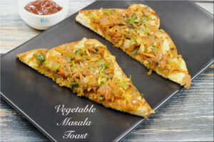 Iyengar Bakery Style Vegetable Masala Toast