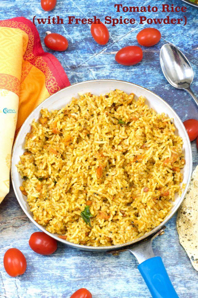 No Onion No Garlic Tomato Rice   Tomato Rice Jain Version