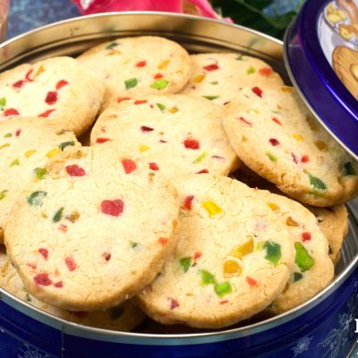 Tutti Frutti Biscuits in Pressure Cooker | Karachi Biscuits | Fruit Cookies