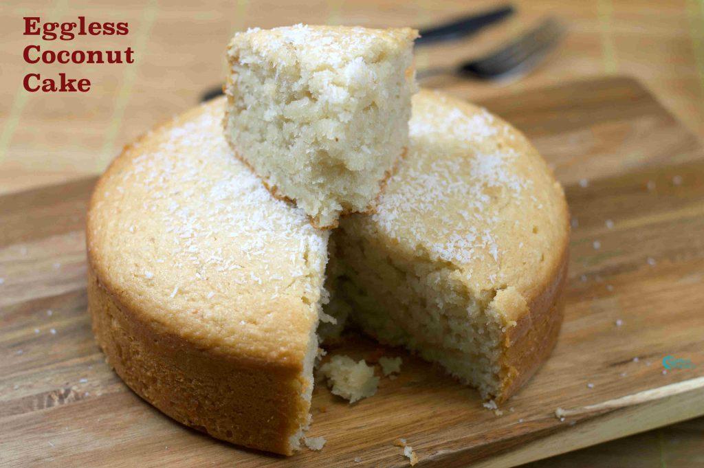 Eggless Cake Recipe In Pressure Cooker In Telugu: Eggless Coconut Cake In Pressure Cooker