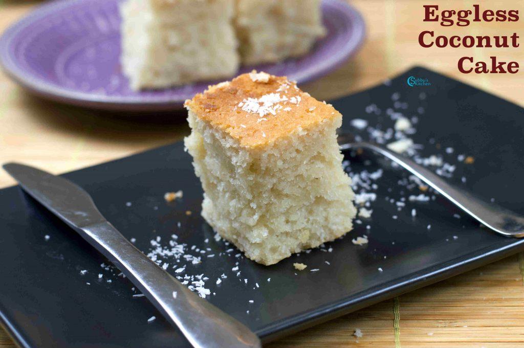 Yogurt Cake Recipe In Pressure Cooker: Eggless Coconut Cake In Pressure Cooker