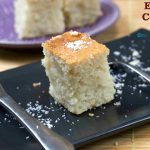 Eggless Coconut Cake in Pressure Cooker