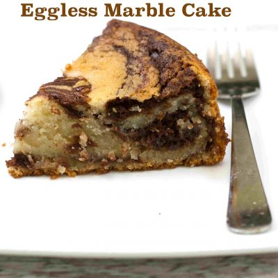 Eggless Marble Cake in Pressure Cooker