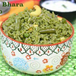 Hara Bhara Pulao | Coriander Mint Coconut Pulao