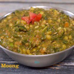 No Onion No Garlic Methi Moong Dal Recipe