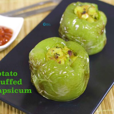 Stuffed Capsicum | Potato Stuffed Bell Pepper