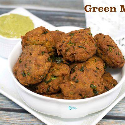 Green Moong Vada | Pachai Payiru Vadai