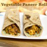 Paneer Kathi roll | Paneer Wrap | Kids Lunch Box Recipe