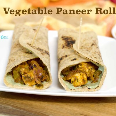 Paneer Kathi roll | Paneer Wrap | Kids Lunch Box Recipe