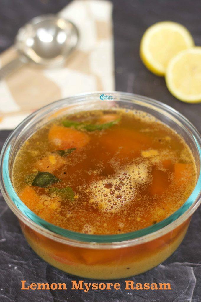 Lemon Mysore Rasam