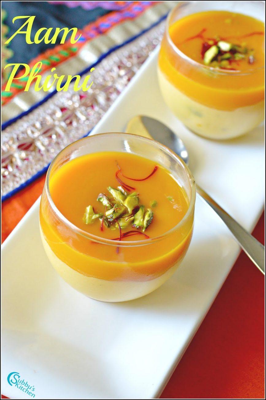 Aam Phirini Recipe | Mango Phirni Recipe | Mango Pudding ...