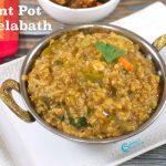 Instant Pot Bisibelabath | Bisibelabath Recipe