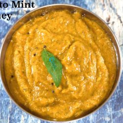 Tomato Pudhina Chutney | Tomato Mint Chutney