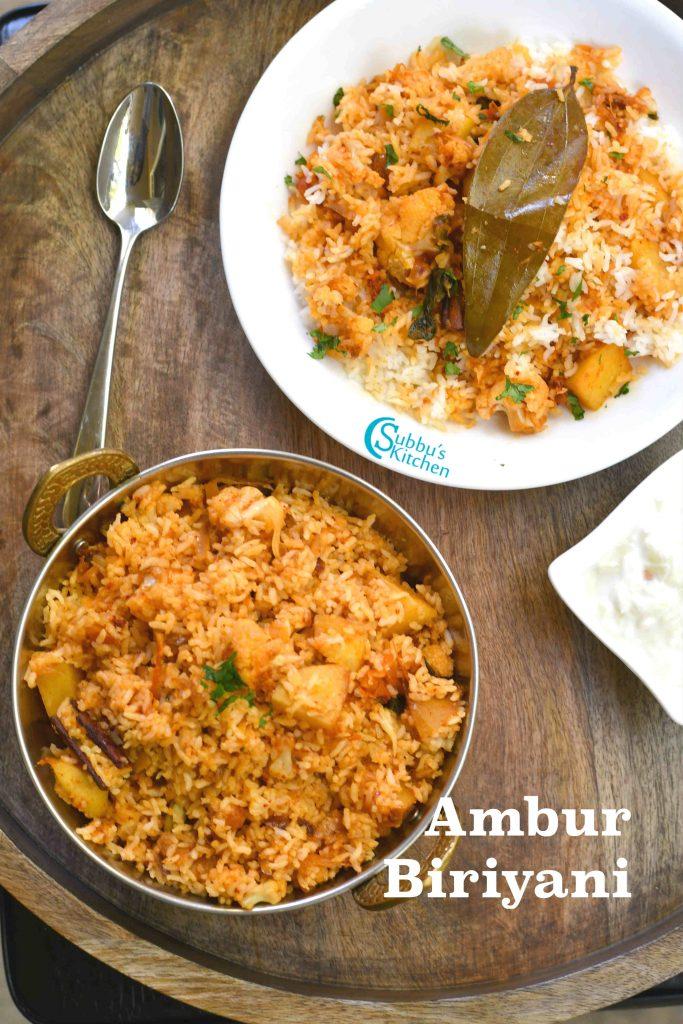 Ambur Vegetable Biryani Recipe