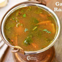 Garlic Tomato Rasam | Poondu Thakkali Rasam Recipe