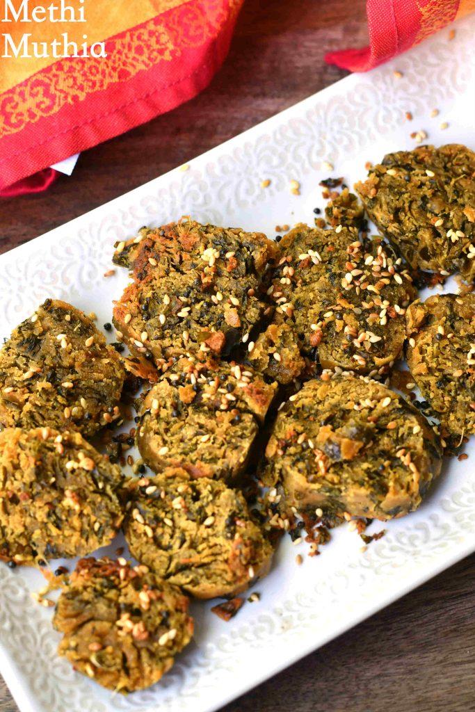 Methi Muthia | Gujarati Steamed Methi Muthia Recipe