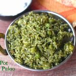 Instant Pot Palak Pulao Recipe | Spinach Pulao Recipe