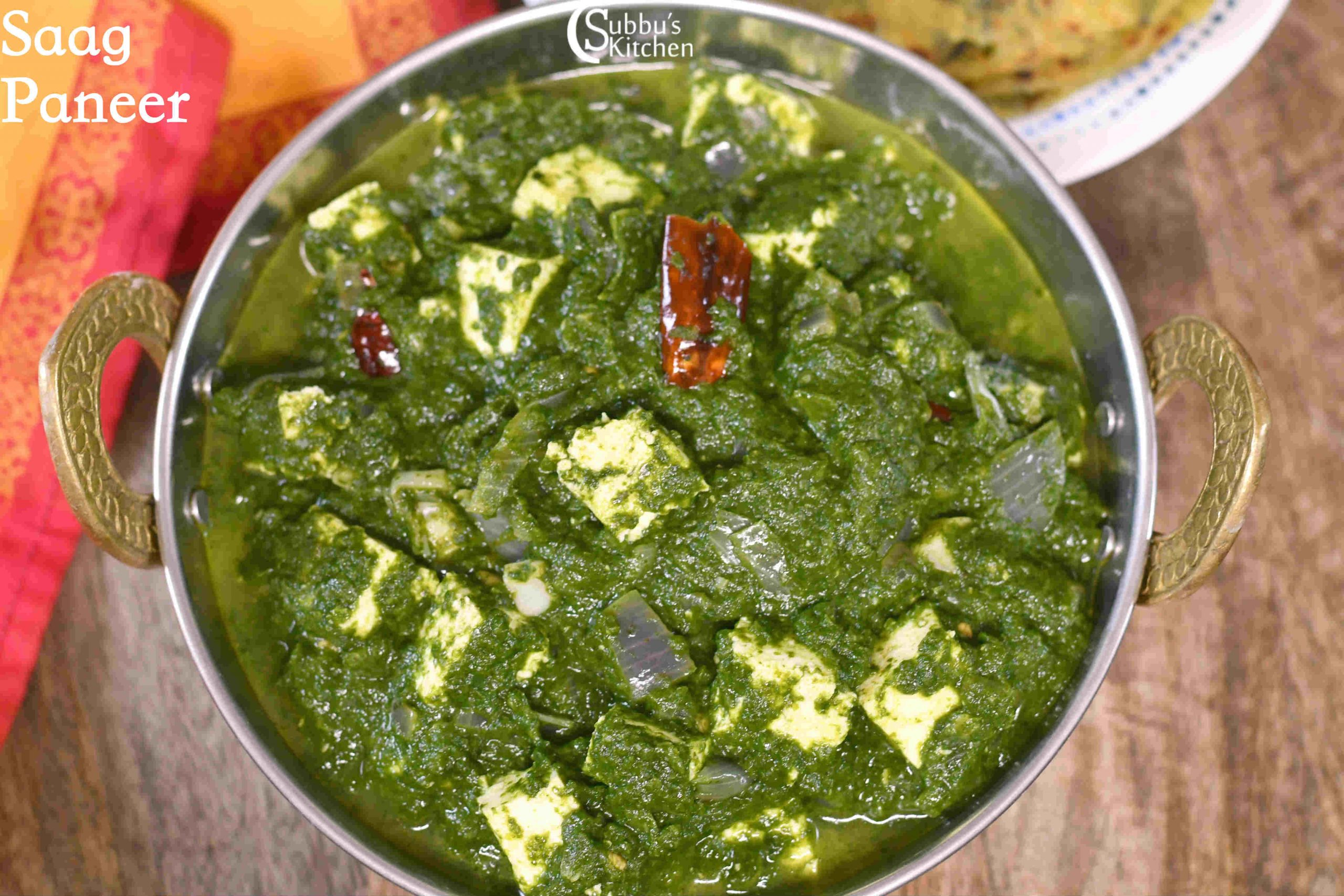 Sarson Ka Saag Recipe Saag Paneer Recipe Subbus Kitchen