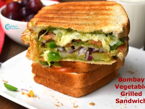 Bombay Grilled Vegetable Sandwich Mumbai Veg Sandwich Recipe Subbus Kitchen