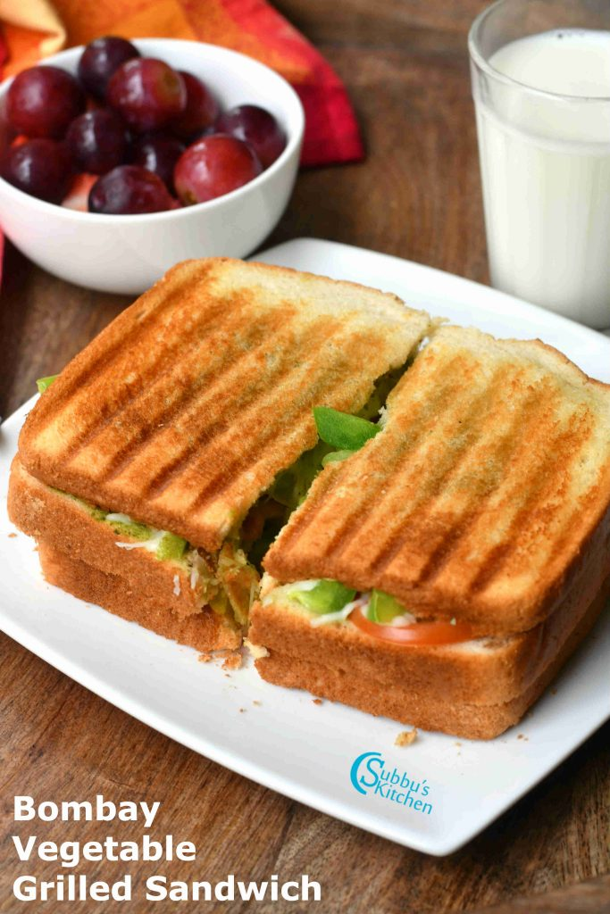 Bombay Vegetable Grilled Sandwich Recipe