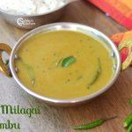 Pacha Milagai Kuzhambu | Green Chilli Kuzhambu Recipe