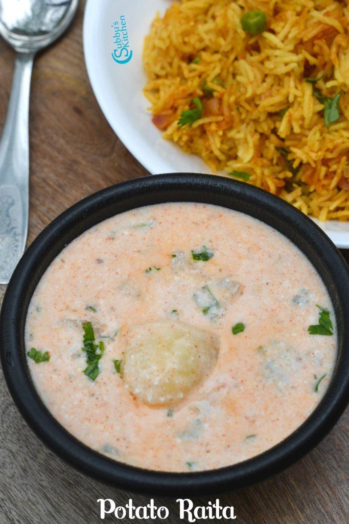 Potato Raita Recipe | Aloo Raita Recipe