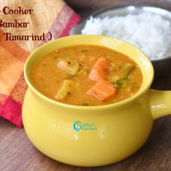 Tomato Sambar (Without Tamarind) using Pressure Cooker