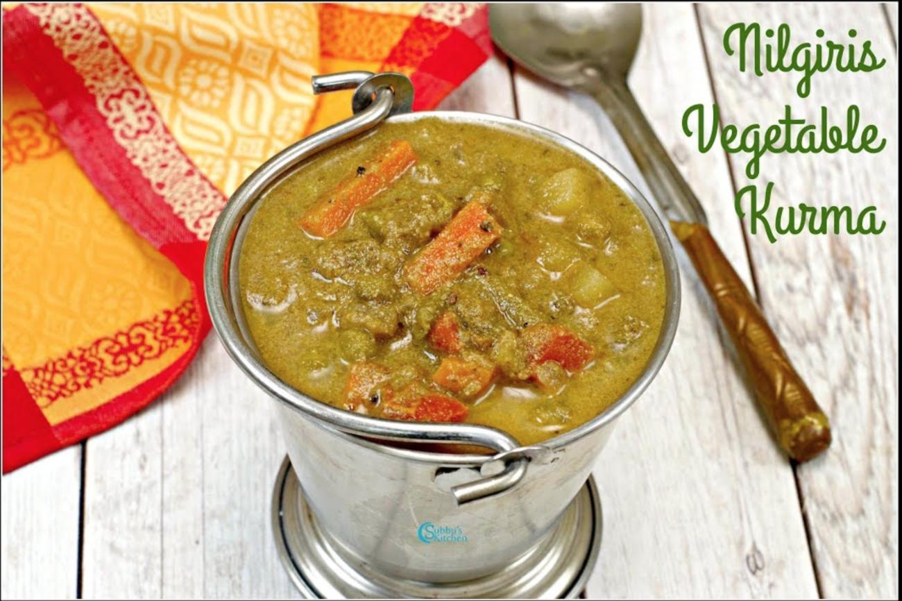 Nilgiris Vegetable Kurma Recipe | Nilgiri Green Korma