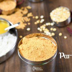 Paruppu Podi | Ambika Appalam Paruppu Podi Recipe | Garlic Paruppu Podi